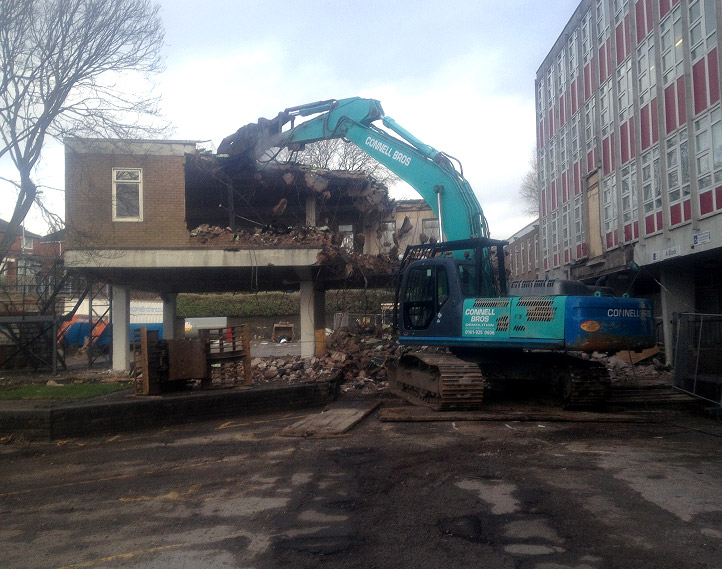 Demolition Of Pod Structure, Stoke College - Connell