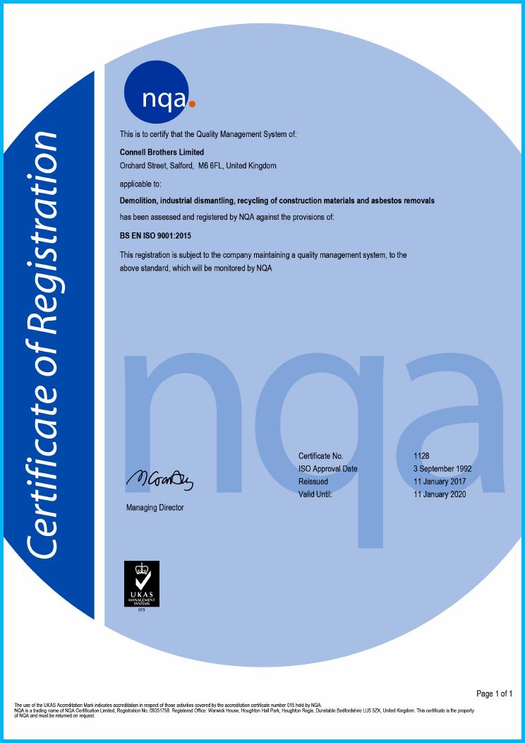 BS EN ISO 9001 Accreditation