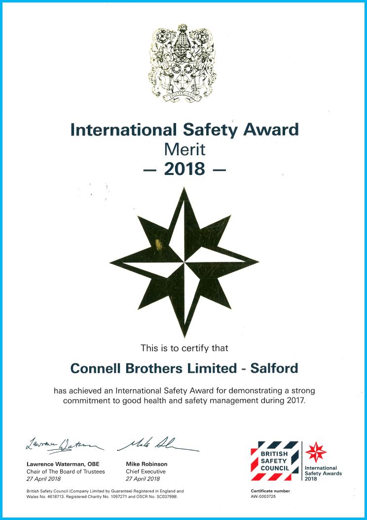 British Safety Council International Award