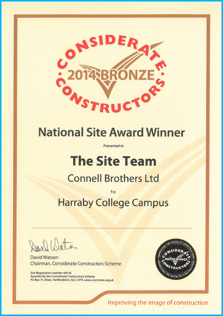 Considerate Constructor National Site Award