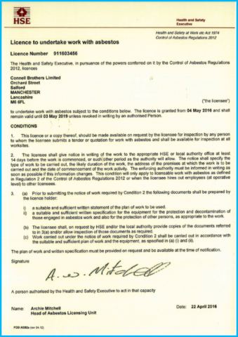 HSE Licence