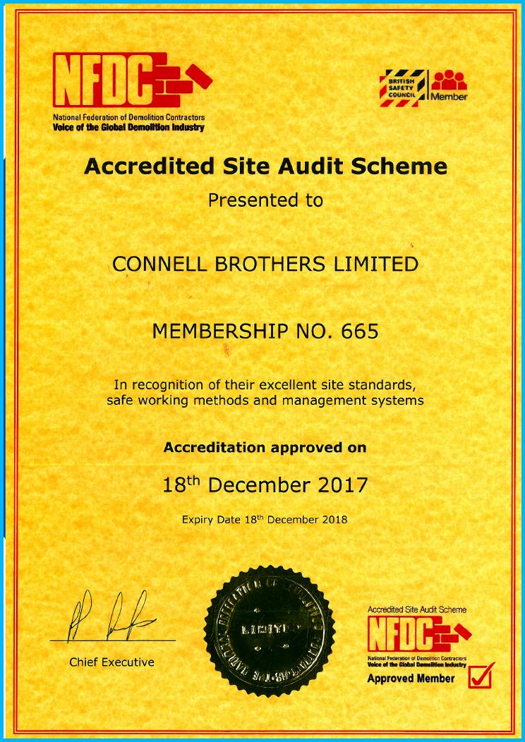NFDC Site Audit Accreditation
