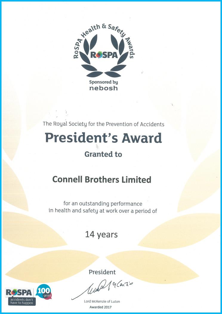 ROSPA Presidents Award